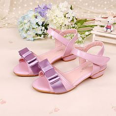Girls' Shoes Dress Low Heel Comfort Peep Toe Leather Sandals Pumps/Heels More Colors available 3104744 2016 – $27.99