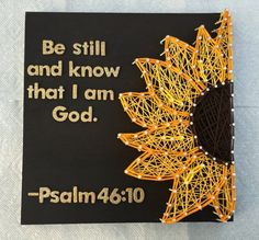 Sunflower String Art by RhapsodyCrafts on Etsy