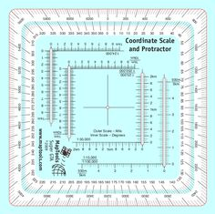UTM/MGRS Coordinate Scale Compass Rose in both Degrees and Mils