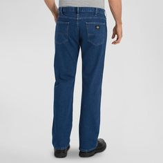Dickies Men's Relaxed Fit Straight Leg 5-Pocket Flex Jean