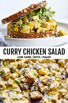 10 Most Misleading Foods That We Imagined Were Being Nutritious! New Curry Chicken Salad Is A Tasty Tango Of Rich, Deep Flavors That Tempt The Taste Buds And Please The Palate Right Down To The Last Irresistible Bite Salad Recipes Low Carb, Paleo Chicken Recipes, Lunch Recipes, Paleo Recipes, Bariatric Recipes, Juicer Recipes, Keto Chicken, Kitchen Recipes, Low Carb Curry