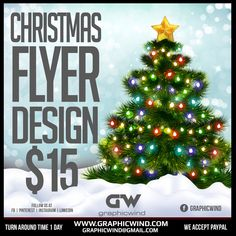 Spread the Christmas joy with Attractive flyers We create an flyers with a fast turn around time. For high-quality flyer designs Contact us at web: www.graphicwind.com or please email us to graphicwind@gmail.com Flyer Design, Logo Design, Graphic Design, Christmas Flyer, Christmas Tree, Flyers, Creative Design, Banner, Joy