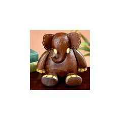 Wood Elephant Shelf Sitter | Decorative Accessories| Home Decor | World