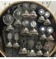 Pinterest • @KrutiChevli . . For order kindly whatsapp 9512533022 #indianfashion #indianbride #punjabibride #bridalmakeup #necklace #indianjewelry #silver #silvernecklace #boho #silverjewelry #jhumka #silverearrings