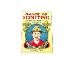Antique Boy Scouts Card Game Vintage Toys Game by OceansideCastle