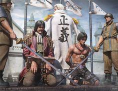 中国建模师还原海贼王被斩首场景:精湛!
