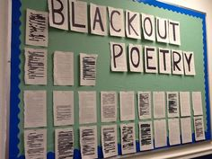 Science Notebooking, Teaching, and Technology: Blackout Poetry for National Poetry Month Teaching Poetry, Teaching Language Arts, Writing Poetry, Teaching Writing, Poetry Unit, Middle School Libraries, Middle School Writing, 6th Grade Writing, Poetry Activities