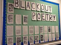 middle school poetry bulletin board - Google Search