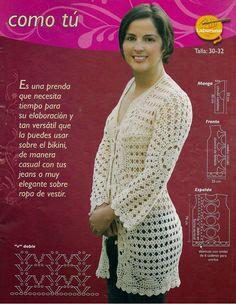 Chaqueta Larga Crochet Instrucciones Patron - Patrones Crochet