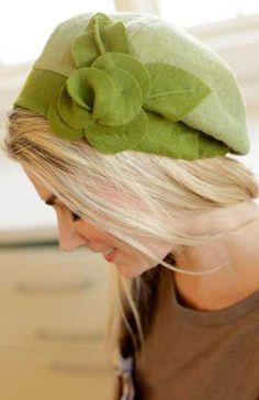 Banded Beret – IJ931 hat sewing pattern from IndygoJunction.com
