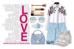 """SHEIN - Lovely White Blouse"" by filmaandry on Polyvore featuring Gap, Mark Cross, Lacoste and Yves Saint Laurent"