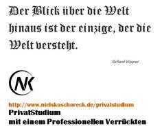 PrivatStudium mit Niels Koschoreck: http://www.nielskoschoreck.de/privatstudium