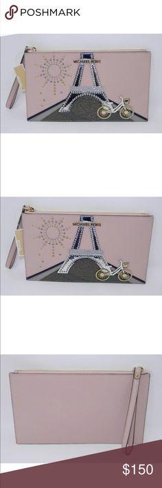 fd13e9786d74 Michael Kors Noveau Novelty Paris Large Wristlet Thank You For Looking at  this Michael Kors Clutch