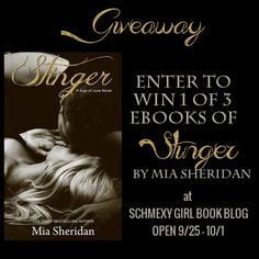 http://www.schmexygirlbookblog.com/spotlight-giveaway-review-for-stinger-by-mia-sheridan/