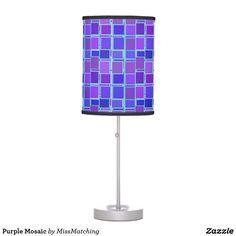 Purple Mosaic Desk Lamp