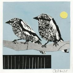 This print is printed on archival paper. Signed by the artist. Prints are sent in a sturdy envelope cushioned by paper. Collage Art, Printmaking, Graphic Art, Whale, Artwork Ideas, Birds, Paper, Creative, Artist