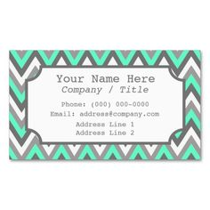 160 best babysitting business cards images on pinterest in 2018 blue gray chevron label business card colourmoves