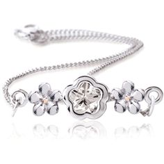 BFlower White Young Teen Bracelet in Sterling Silver from www.thejewelryvine.com