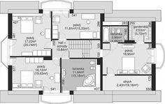 Rzut poddasza projektu Dom przy Wiosennej 12 Dream House Plans, Floor Plans, How To Plan, Model, Mathematical Model, Dream Home Plans, Scale Model, House Floor Plans