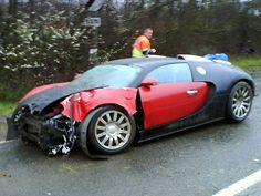 Crashed Bugatti Veyron - it'll buff right out...