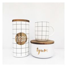 "The Bargain Diaries on Instagram: ""@targetaus is right on trend with these items from the @i_am_lisat range. We absolutely love every single one of these pieces! Pictured is the $20 yum flat canister, $20 tall grid canister and the $10 grid mug. #targetaus #targetstyle #target #iamlisat"""
