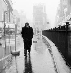 New York City. 1955. James Dean walks through Times Square. © Dennis Stock / Magnum Photos