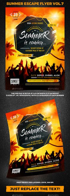 Summer Escape Party Flyer vol.7