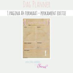 Dag Planner - Perkament Editie 1