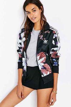 adidas Originals Lotus Print Track Jacket - Urban Outfitters