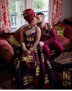 Image may contain: 1 person, sitting African Wedding Attire, African Attire, African Dress, African Style, African Beauty, Couples African Outfits, African Clothing For Men, Luxury Couple, Matching Couple Outfits