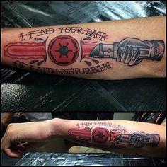 #tattoo #starwars #starwarstattoo #lightsaber #darkside