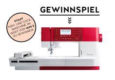 GEWINNSPIEL: PFAFF NÄH- UND STICKMASCHINE Pfaff, Sewing, Games, Projects, Gowns, Dressmaking, Couture, Stitching, Sew
