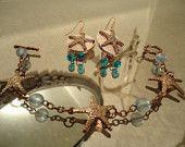 Copper Starfish Jewelry set