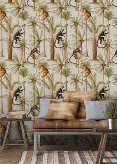Mind The Gap Wallpaper Collection - The Rediscovered Paradise - Barbados - Roll from Rockett St George Fern Wallpaper, Monkey Wallpaper, Botanical Wallpaper, Wallpaper Direct, Print Wallpaper, Pattern Wallpaper, Tropical Wallpaper, Wallpaper Ideas, Barbados