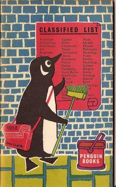 John Griffiths' design for 1958 Penguin stocklist