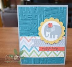 Stampin' Up! Zoo Babies and Watercolor Wonder designer series paper