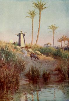 Kelly, Robert Talbot (1861-1934) - Egypt 1903, By still waters