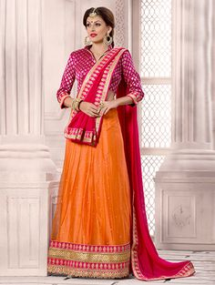 Buy Cream Net Lehenga Choli with Diamond Work Online at Best Price for Women - CCAA2030 - Saree.com