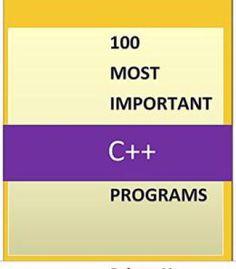 100 Most Important C++ Programs PDF