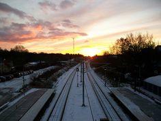 Ølstykke Station at sunrise