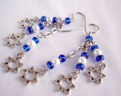 Star of David Earrings Cluster Earrings Charm by theicepalace