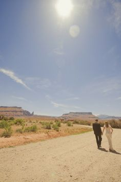 Cami and Alex's Simple Desert Wedding by OEIL Photography Would be a great idea in Tucson.