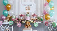 Dessert Table from a Teddy Bear Forever Friends Birthday Party via Kara's Party Ideas KarasPartyIdeas.com (14)