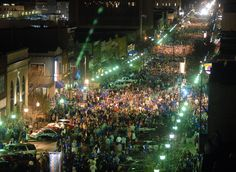Mass Street, Lawrence, KS - Night of the 2008 National Championship Game. My husband and I were fortunate enough to attend KU during the 1988 National Championship and this is like deja vu. Kansas Usa, State Of Kansas, University Of Kansas, Kansas City, Lawrence Kansas, St Lawrence, Kansas Basketball, Ku Bball, Lawrence Photos