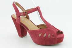 Jeffrey Campbell Cathy Womens SZ 6 Red Peep Toe Shoes  Jeffrey Campbell