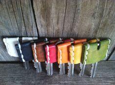 HANDMADE LEATHER Key Cap Key Cover Key Topper FREE Monogram Hand Stitched MXS $6.22