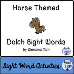 This set includes the 220 Dolch words and is in both color and black and white. It was inspired by Chinese zodiac. It can be played anytime.Horse Sight Word Memory GameThe game is played as a typical memory game. You will need to make 2 copies of each sheet in order to do the matching.Horse Sight Word Flash CardsUsing the same templates, practice the sight words in pairs or in sets.