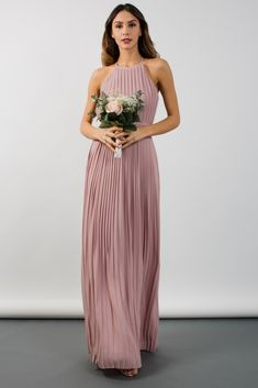 deed8a93eb2 TFNC party dress - Grecian style - Pleated finish - Cami straps - Maxi  length Material
