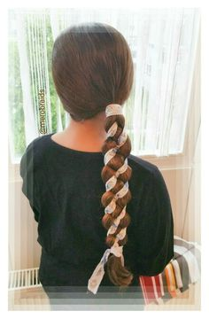 Woven 4strand braid with ribbon