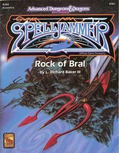 The Cover of SJR5 Rock of Bral by L. Richard Baker III. #RPG #Spelljammer